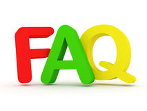 FAQ letters on white background Stock Photography