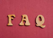FAQ letters Royalty Free Stock Photo