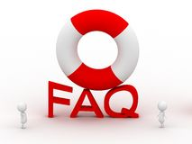 Faq and Lifebelt Royalty Free Stock Photography