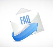faq mail sign illustration design Stock Photography