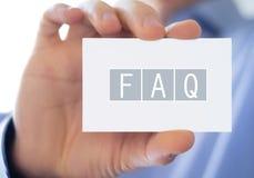 FAQ Stock Image
