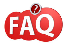 FAQ mark with clipping path Royalty Free Stock Image