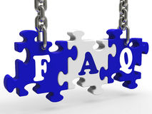 FAQ Means Frequently Asked Questions Stock Photos