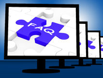 FAQ On Monitors Shows Frequently Asked Stock Photography