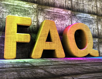 Faq Online Means World Wide Web And Advisor Stock Image