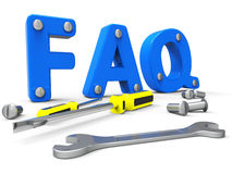 Faq Online Shows World Wide Web And Help Stock Image
