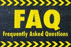 FAQ - palavra frequentemente pedida das perguntas Imagens de Stock