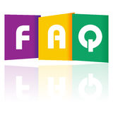 FAQ paper text Royalty Free Stock Images