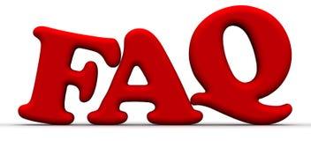 FAQ - Perguntas freqüentemente feitas ilustração do vetor