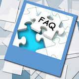 FAQ Photo Means Website Questions And Solutions Stock Photo