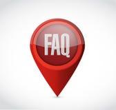 Faq pointer sign illustration design Stock Photo