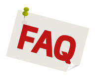 FAQ pushpin Royalty Free Stock Image