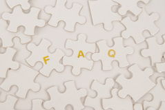FAQ Puzzle Stock Image