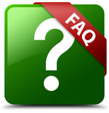 Faq question icon green square button Royalty Free Stock Photo