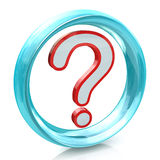 FAQ question mark and blue circle Stock Image