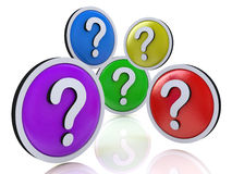 Faq or question marks. In the design of the information related to the Internet Stock Photos