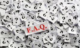 FAQ question. Marks on white papers -hard light stock image