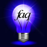 Faq Questions Represents Information Questioning And Assistance Royalty Free Stock Photo