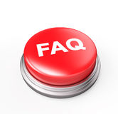 FAQ Red Button Royalty Free Stock Photos