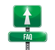 Faq road sign illustration design Royalty Free Stock Photos