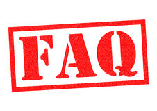 FAQ Rubber Stamp. FAQ red Rubber Stamp over a white background Royalty Free Stock Photos