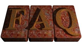 FAQ rusty stamp Stock Image
