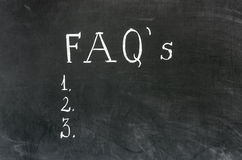 FAQ's Royalty Free Stock Photos