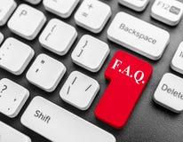 FAQ-Schlüssel Stockfotografie