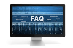 Faq on a screen Stock Photography