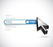 Faq search bar sign illustration design Royalty Free Stock Image