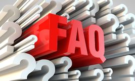 FAQ section Royalty Free Stock Image