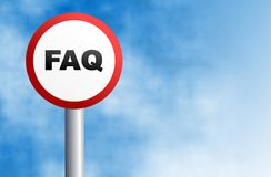 Faq sign Royalty Free Stock Photography