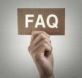 FAQ sign Royalty Free Stock Photos