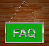 Faq Sign Shows Frequently Asked Questions And Advertisement Royalty Free Stock Photos