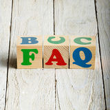 FAQ sign Stock Photo