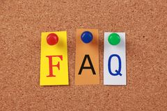 FAQ Single Word Royalty Free Stock Images