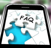 FAQ Smartphone Means Website Questions And Solutions Stock Image