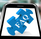 FAQ Smartphone Means Website Solutions Help Royalty Free Stock Photos