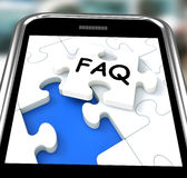 FAQ On Smartphone Showing Website's Questions Royalty Free Stock Photo