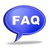 Faq Speech Bubble Means Information Asking And Questions Royalty Free Stock Images