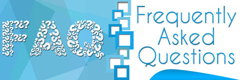 FAQ Square Separator Blue Banner Stock Photography