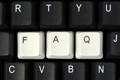 FAQ sulla tastiera Fotografie Stock Libere da Diritti