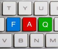 FAQ sulla tastiera Immagini Stock Libere da Diritti