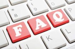 FAQ sur le clavier photographie stock