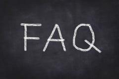FAQ sur le tableau Image stock