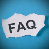 Faq symbol. Paper with lettering FAQ concept stock photos