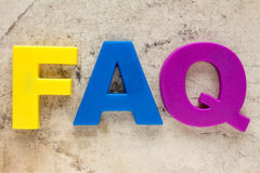 FAQ symbol Royalty Free Stock Photos