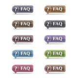 FAQ Symbols Royalty Free Stock Photo