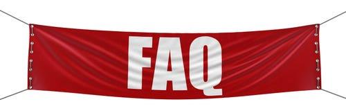 FAQ sztandar (ścinek ścieżka zawierać) Obraz Royalty Free