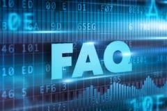 FAQ teksta pojęcie Obrazy Stock